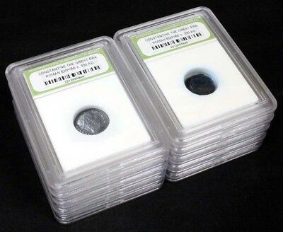 10 Slabbed Ancient Roman Constantine the Great Coins Nice Quality c 330 AD a7