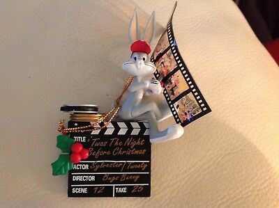 Looney Tunes Bugs Bunny Director 1996 Matrix Ornament Film Reel Sylvester Tweety