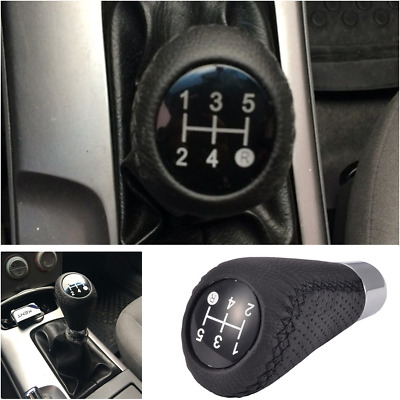 Manual Car Gear Shifter Shift Lever Knob Cover Leather fits Circular Gear Lever