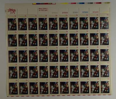 Us Scott 1701 Pane Of 50 Madonna Christmas Stamps 13 Cent Face Mnh