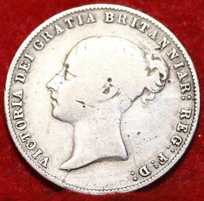 1859 Great Britain 6 Pence Silver Foreign Coin