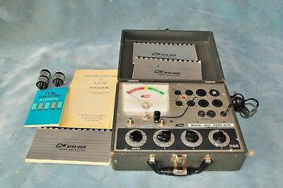 B&K 600 Dyna-Quick Vacuum Tube Tester With Adapters & Tube Data Guide