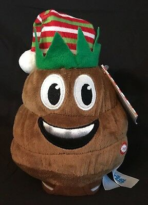 NEW! Animated Poop Christmas Plush Dances and Farts Plays Jingle Bells  Hat