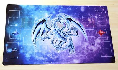 F161 Free Mat Bag Yugioh TCG Playmat Blue-Eyes White Dragon With Pendulum Zones
