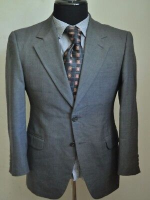 NWOT ZEGNA COUTURE Grey Plum Wool Flannel Plaid Peak Lapel 2Btn ... 97f59515584