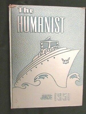 "Memorial High School Yearbook 1951 West New York, New Jersey ""The Humanist"""