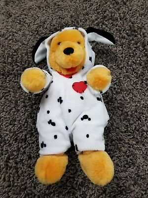 Winnie The Pooh Dalmation Outfit Valentine`s Day Plush Doll  Disney Store