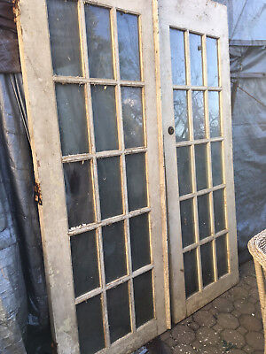 French Doors Farm house size 60X84X1 3/4 glas is 12.5 X 6 weakend  find 80+years
