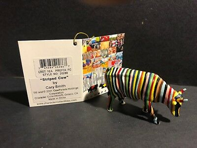 Cow Parade*Striped Cow* Mini Cow Figurine-Brand NEW w/TAG # 20286