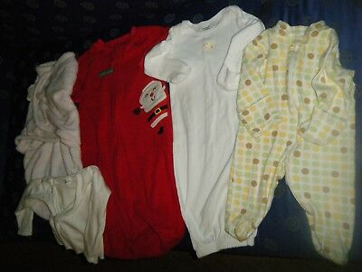 Lot of Unisex baby clothing mixed style / brands size 0-3 months