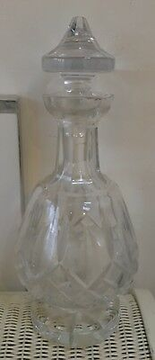 WATERFORD GLASS CRYSTAL LISMORE BRANDY FOOTED DECANTER & STOPPER Signed