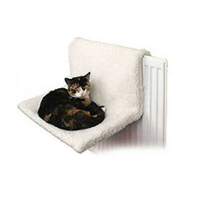 Cream Comfy Radiator Cat Basket Hammock Pet Cradle Kitten Bed Warm Heated Snug