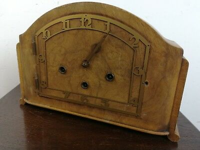 Vintage art deco mantel clock old