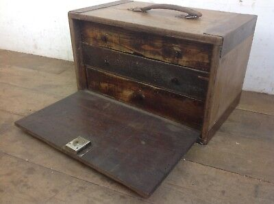 Vintage rustic Engineer Bank Of Drawers Cabinet Old Draws Industrial