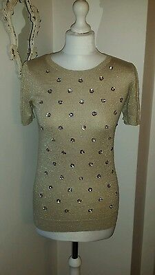 f2812b95a1d2 OASIS GOLD BOLERO with sequins - Size 14 - £5.00 | PicClick UK