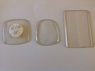 Alarm Clock Glass All Acrylic 2 Convex Curved Edge 1 Flat Bevelled Rectangle