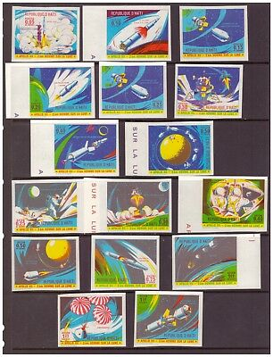Haiti MNH 1970 Space,The 2nd Manned Lunar Landing - Apollo 12, full set mint
