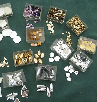 Sequins Shapes Beads 13 Packs Set E Assorted Craft Sewing Dancing Costume