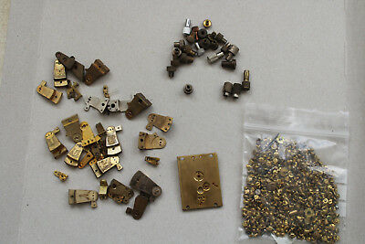 Job Lot Platform Escapement Parts - Antique Brass - hand setters and screws