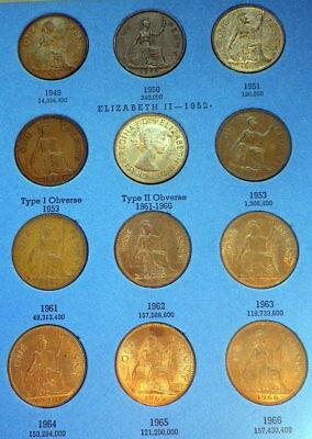 Great Britain Date Runs In Whitman Folders. Victoria-QEII Farthings to Shillings