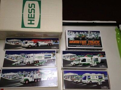 LOT OF 6 HESS TOY TRUCKS 1998-2000-2001-2002-2003-2007  —- Pickup Only