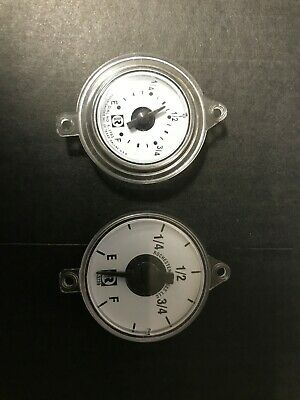 "Flat Dial Vertical Spiral Fuel Level Gauge x 16/"" replaces Rochester 8680 Series"