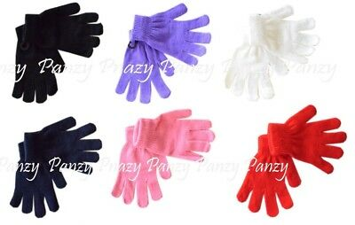 2 or 5 Pairs Children's Boys Girls Magic Gloves One Size - age 4-8