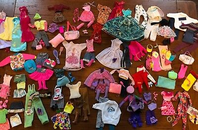 Huge Lot Barbie Doll Clothes Skirts, Tops, Gowns, Hats Bathing Suits Accessories