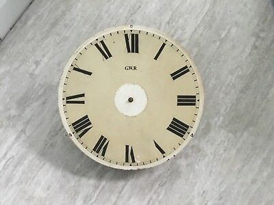 """Fusee clock movement and 16"""" dial GWR railway clock"""