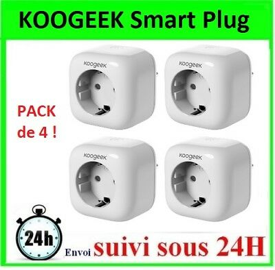 PACK DE 4 Prises Koogeek Smart Plug WiFi 2.4GHz prise intelligente domotique