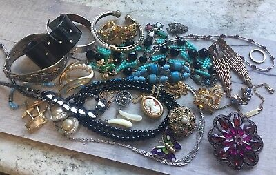 Antique Vintage Jewellery Job Lot Wear Spares Repair