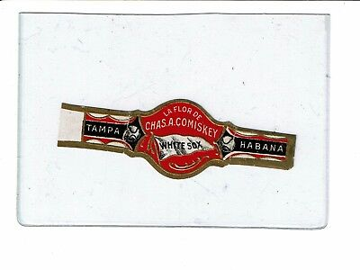 CHARLES COMISKEY ( Chicago White Sox) ) CIGAR BAND