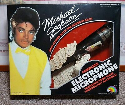Official Vintage 1984 Michael Jackson Cordless Electronic Microphone NEW IN BOX