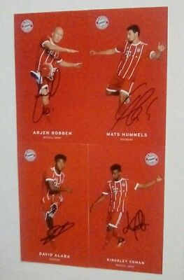 Official Bayern Munich Football Hand Signed Club  4 Cards Set Comes With C.o.a.
