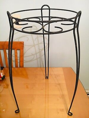 """Vintage Wrought Iron Hair Pin Plant Stand 26"""""""
