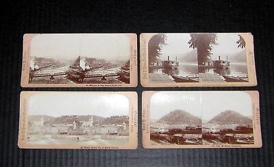 Lot of 4 Original Lewis P. Peters, East Mauch Chunk, Stereoview Bear Mt/St Marks