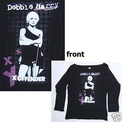 Blondie Debbie Harry Offender L/s Girls Juniors Shirt Small New
