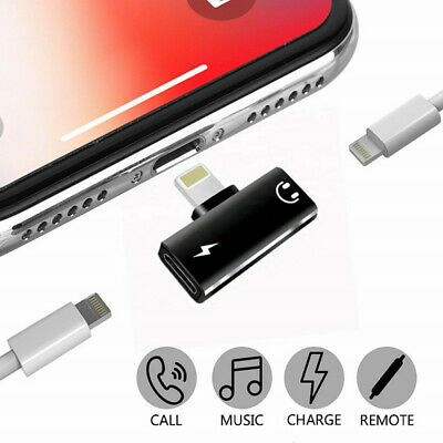 4in1 Lightning Adapter headphone Audio Charger Splitter For iPhone 7 8 Plus X XS