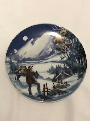 """American Portraits Plate Collection """" The Rockies """" Avon 4"""" Dia."""