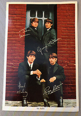 Vintage Beatles 1964 Nems Postcard Original 9 X 6 Lennon Mccartney Harrison Star