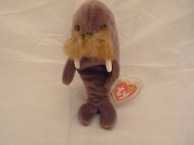 1996 Ty Original Beanie Babies JOLLY The Brown Walrus STYLE 4082 w/Tags (7 inch)