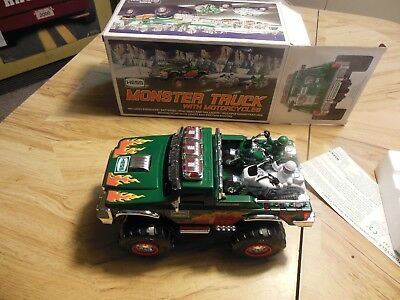 2007 Hess Monster Truck With Motor Cycles!!  (Brand New)) Mint Condition!!!