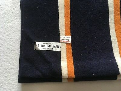 The English Hatter Amsterdam New Vintage Wool College School Scarf.