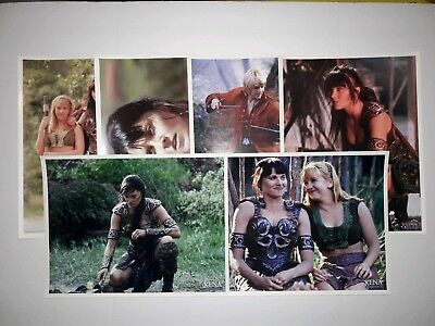 Xena Fan Club Lot - (16) Pictures, (5) Chakrams, (2) Posters, Membership Items