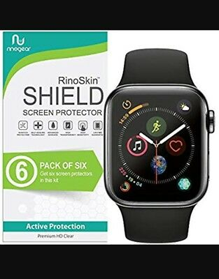 [6-Pack] RinoGear for Apple Watch 4 Screen Protector 44mm (Series 4) [Active]