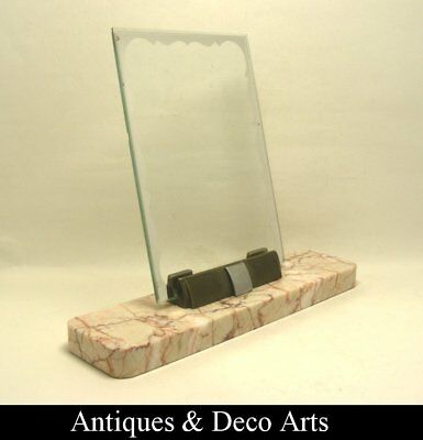 Art Deco Marble & Metal Picture- or Photo Frame (18x13cm)