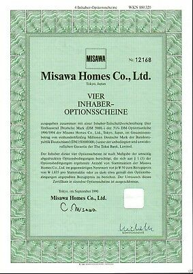 Misawa Homes Co., Ltd. 4er-OS 1990