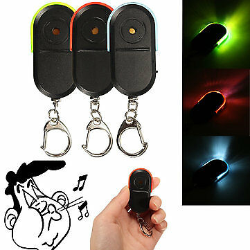 Anti-Lost Alarm Key Finder Locator Keychain Whistle Sound with LED. Light