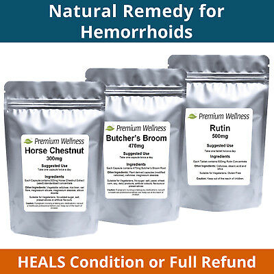 ULTIMATE Remedy for Hemorrhoids! Hemorrhoid Tablets,Haemorrhoid Piles Treatment