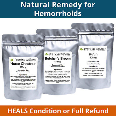 ULTIMATE Treatment for Hemorrhoids - HEALS or Refund! Haemorrhoid Piles Tablets